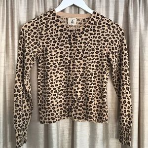 🤎💛 Lands' End leopard 🐆 print cardigan 10-12
